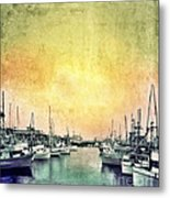 Boats In The Harbor Metal Print by Jill Battaglia