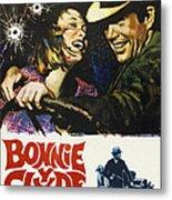 Bonnie And Clyde, Faye Dunaway, Warren Metal Print by Everett