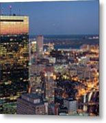 Boston By Night. Metal Print by Linh H. Nguyen Photography