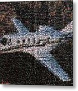 Bottle Cap Cessna Citation Mosaic Metal Print by Paul Van Scott
