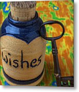 Bottle Of Wishes Metal Print by Garry Gay
