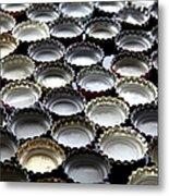 Bottlecaps Metal Print by Shana Novak