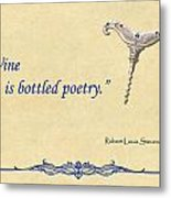 Bottled Poetry Metal Print by Elaine Plesser