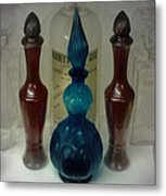 Bottled Up Metal Print by DigiArt Diaries by Vicky B Fuller