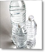Bottled Water Metal Print by Photo Researchers