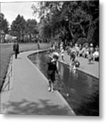 Bournemouth Park Metal Print by Alfred Hind Robinson