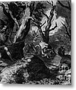 Braddocks Defeat, French And Indian Metal Print by Photo Researchers