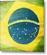 Brazil Flag Metal Print by Setsiri Silapasuwanchai