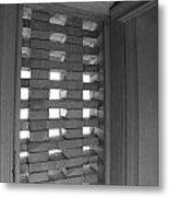 Bricks In The Window Metal Print by Anna Villarreal Garbis