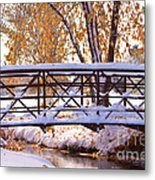 Bridge Over Icy Waters Metal Print by James BO  Insogna