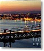Bridge Over Tagus Metal Print by Carlos Caetano