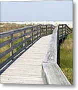 Bridge To The Beach Metal Print by Glennis Siverson