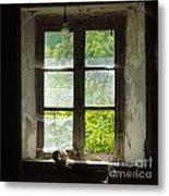 Broken Window. Metal Print by Bernard Jaubert