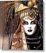 Bronce Mask Metal Print by Karin Haas