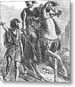Bronze Age Warrior Metal Print by Photo Researchers