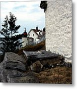 Browns Head Lighthouse Metal Print by Skip Willits