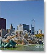Buckingham Fountain Chicago Metal Print by Christine Till