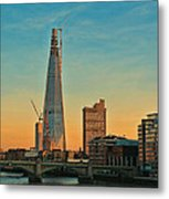 Building Shard Metal Print by Jasna Buncic