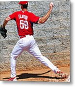 Bullpen Action Metal Print by Carol Christopher
