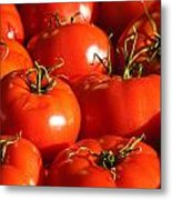 Bunch Of Tomatoes Metal Print by Connie Cooper-Edwards