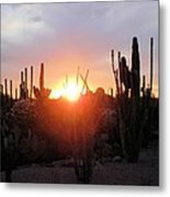 Burning Horizon Metal Print by