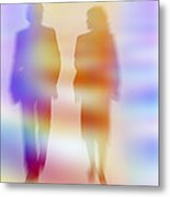 Business People Talking Metal Print by Pasieka