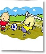 Busy Beaver Soccer Metal Print by Scott Nelson