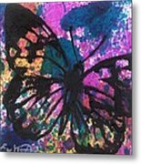 Butterfly Bliss Metal Print by Oddball Art Co by Lizzy Love