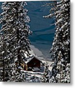 Cabin In The Woods Metal Print by Mitch Shindelbower