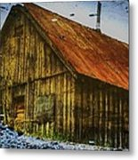 Cabin Reflect Metal Print by Tom Liesener
