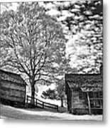 Cabin Under Buttermilk Skies I Metal Print by Dan Carmichael