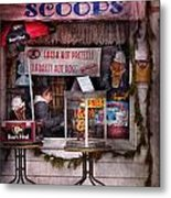 Cafe - Clinton Nj - The Luncheonette  Metal Print by Mike Savad