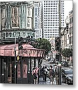 Cafe Zoetrope  Metal Print by Artist and Photographer Laura Wrede