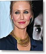 Cameron Diaz At Arrivals For The Box Metal Print by Everett