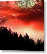 Canada Competing In The Celebration Of Light Fireworks 2011 Metal Print by Pierre Leclerc Photography