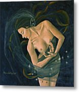 Cancer From Zodiac Series Metal Print by Dorina  Costras