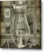 Candle And Window Metal Print by Steven Ainsworth