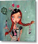 Candy Girl  Metal Print by Caroline Bonne-Muller