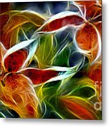 Candy Lily Fractal  Metal Print by Peter Piatt