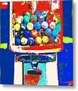 Candy Machine Pop Art Metal Print by ArtyZen Kids