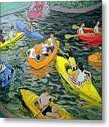 Canoes Metal Print by Andrew Macara