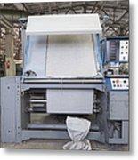 Canvas Trimming Machine Metal Print by Magomed Magomedagaev