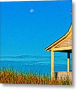 Cape Cod Bay House Metal Print by Linda Pulvermacher