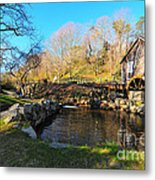 Cape Cod Grist Mill Metal Print by Catherine Reusch  Daley
