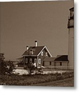 Cape Cod Lighthouse Metal Print by Skip Willits