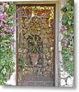 Capri-timeless Gate Metal Print by Italian Art