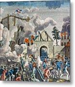 Capture Of Bastille, 1789 Metal Print by Granger