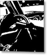 Car Passing Metal Print by Giuseppe Cristiano