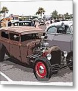 Car Show 1928 Metal Print by Steve McKinzie