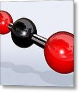 Carbon Dioxide Molecule Metal Print by Miriam Maslo